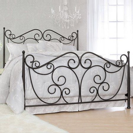 Serta Fancy Scroll King Metal Bed, Dark Bronze | Products ...