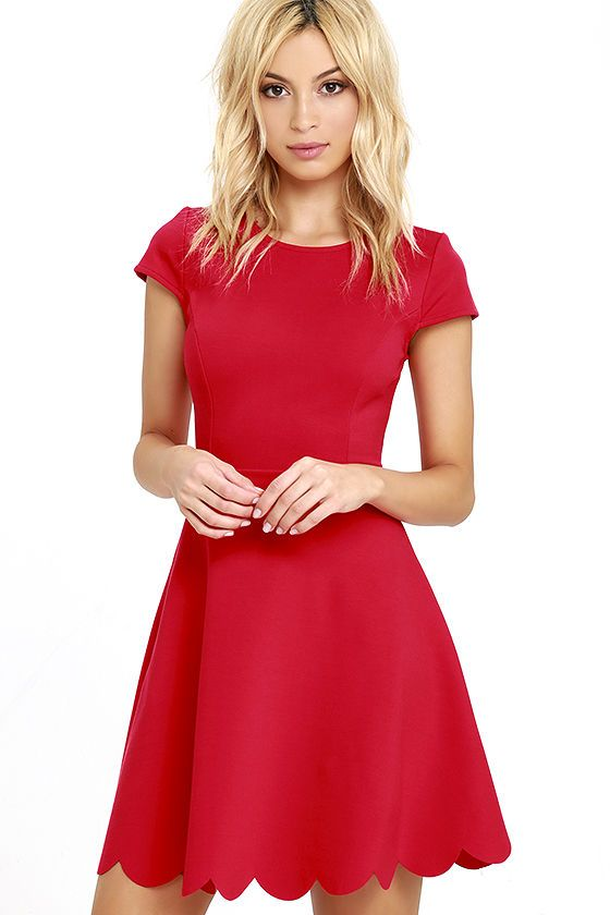 Proof of Perfection Red Skater Dress - Adolescentenmode, Vorm en ...