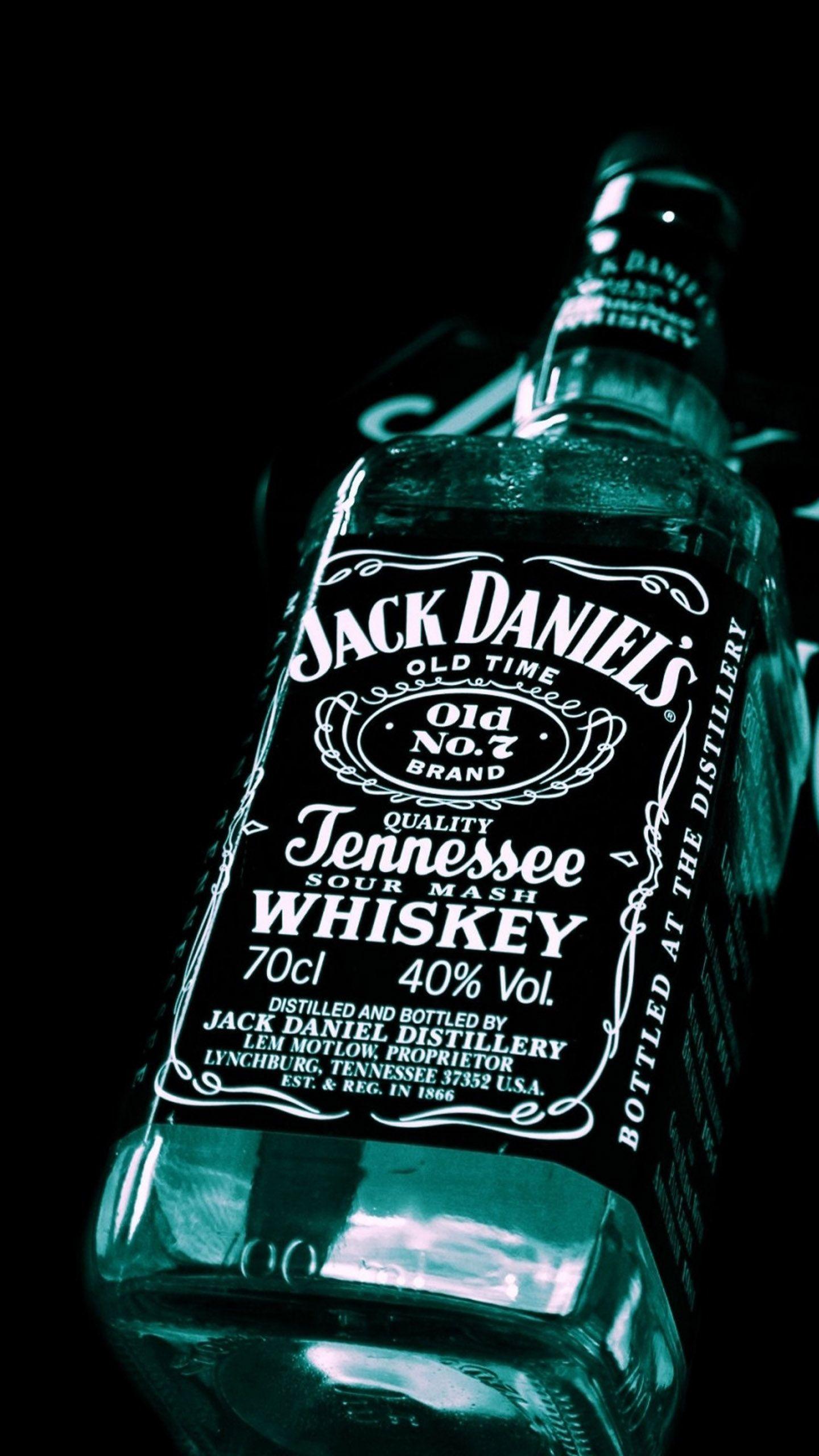 Jack Daniels Whiskey Brandy Bottle Wallpaper Jpg 1440 2560