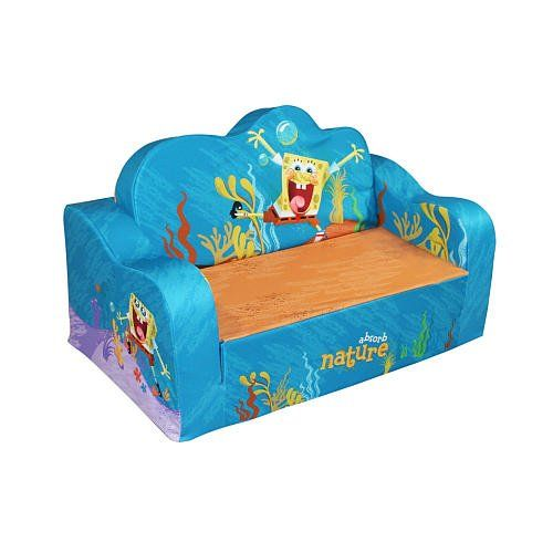 Foam Flip Sofa Bed Toddler Room Bed Spongebob