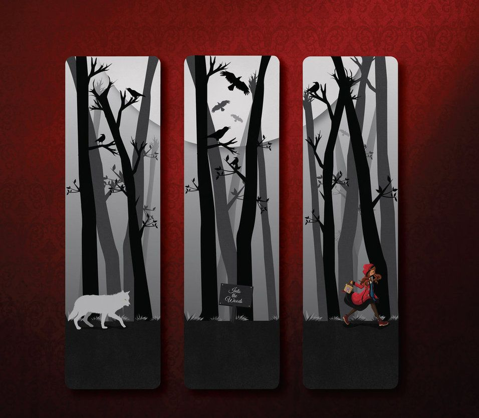 Red Riding Hood Bookmarks by NightBlossom66 on DeviantArt