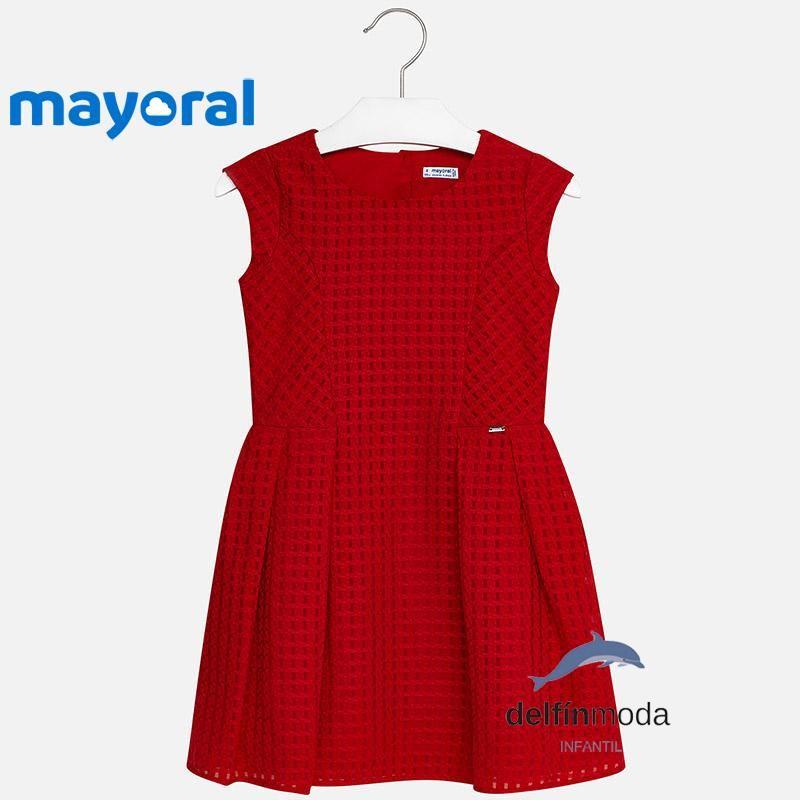 Vestido Rojo De 2018 Niña Con Juvenil Relieve Mayoral rrvwYZq