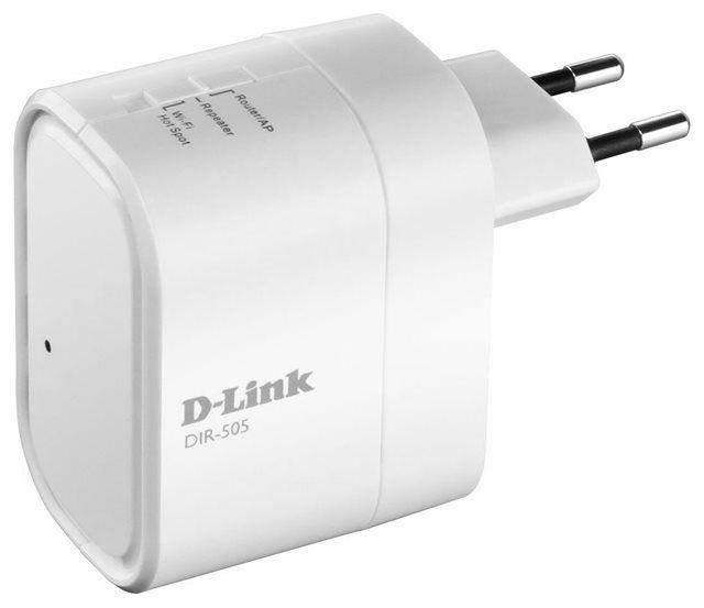 O pocket router DIR-505 da D-Link se pluga diretamente à tomada, compartilha arquivos e acessa à interne