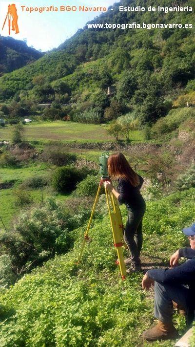 Levantamiento Topografico En El Barranco De La Virgen En El