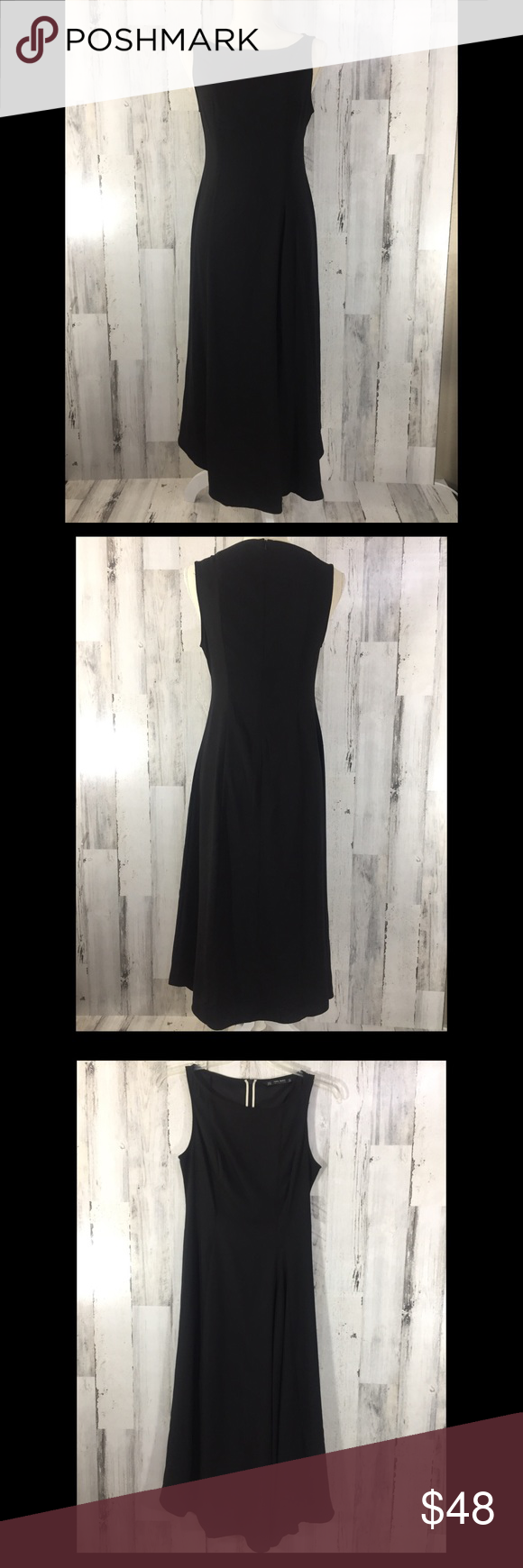 Zara basic black dress size m zara dresses long black and hemline