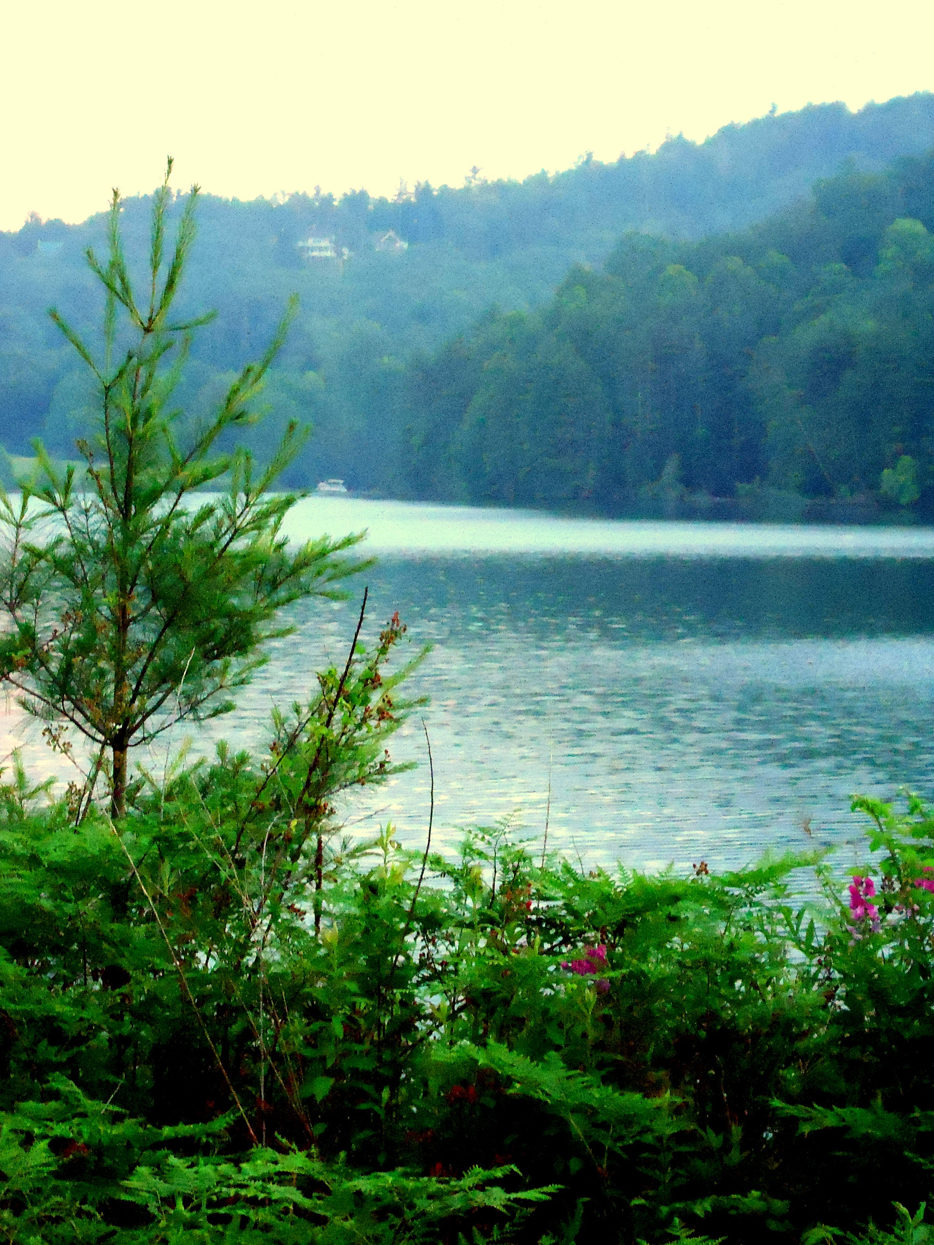 Lake Glenville NC At Dusk Location Approx Ft Above Sea Level - My location sea level