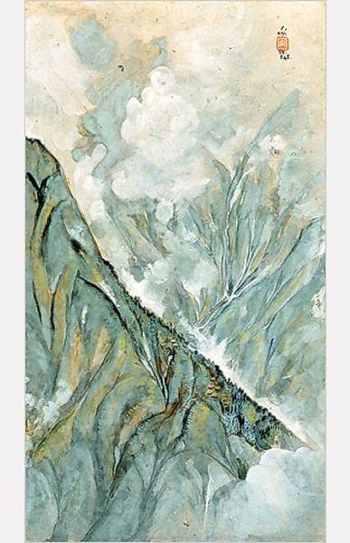 Darjeeling and Fog', 1945 - Nandalal Bose | ART: Gallery 2