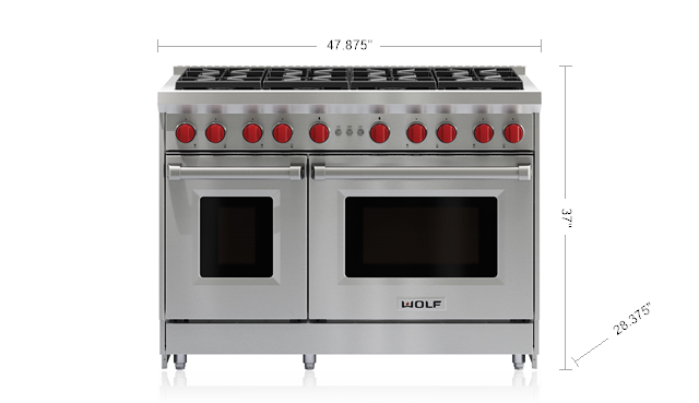 48 Gas Range 8 Burners Wolf Appliances Wolf Oven Wolf Range