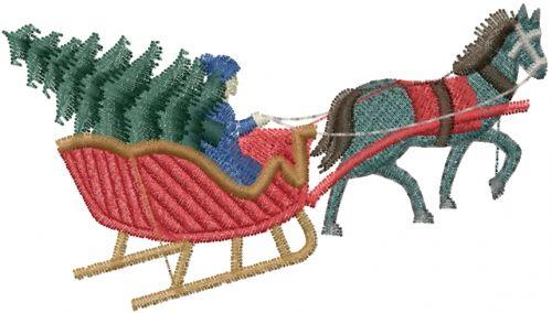 Free Horse Drawn Sleigh Embroidery Design Annthegran Free