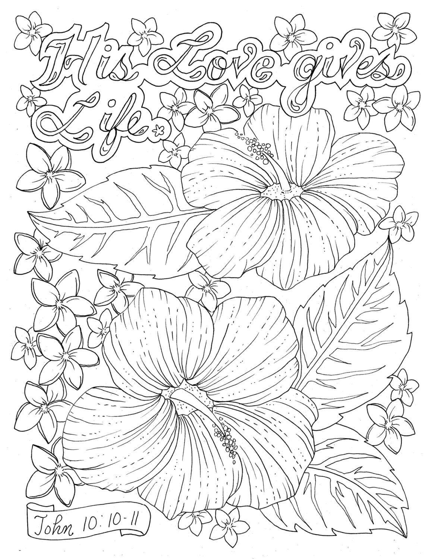SOFORT-DOWNLOAD Schrift-Blume Malvorlagen basteln Seite Scrapbooking ...
