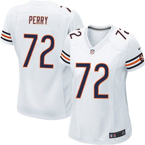 224e08727 Nike Limited William Perry White Women s Jersey - Chicago Bears  72 NFL Road