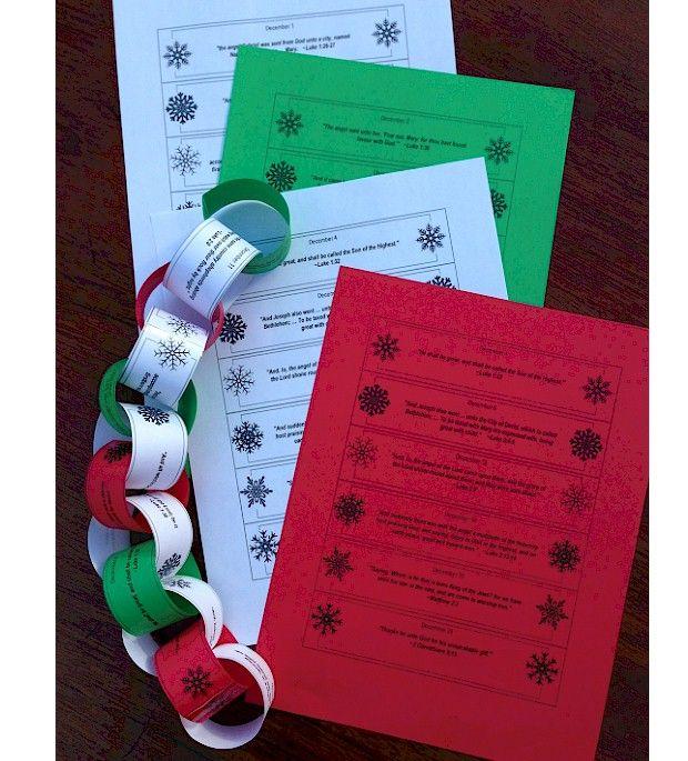 Advent Calendar Preschool : Printable advent calendar paper chain