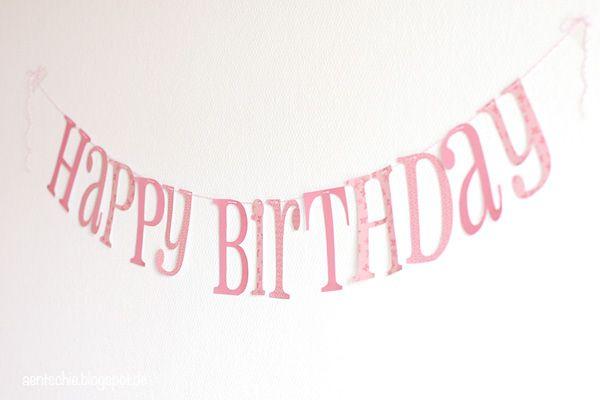 Aentschies Blog Happy Birthday Girlande Free Printable