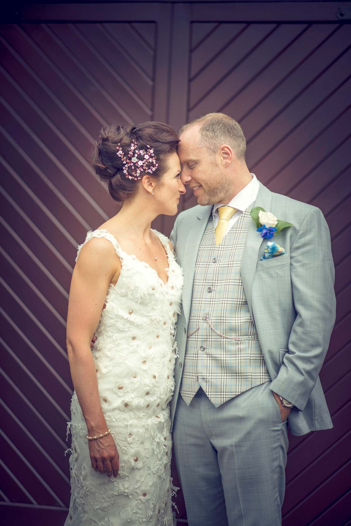 A pretty homemade wedding in oldham florals reception and wedding