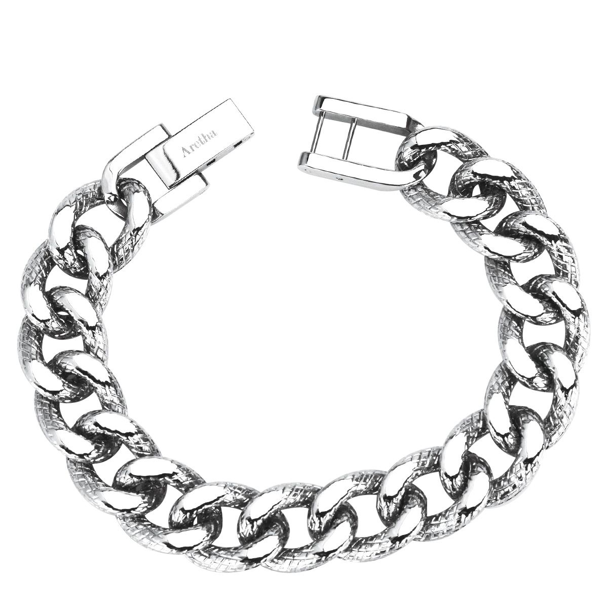 Aretha l stainless steel mm mens curb chain inch