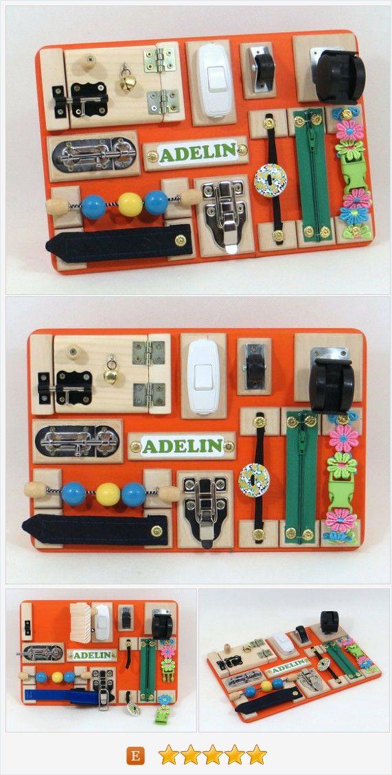BUSY BOARD Sensory Wooden Children Toy Wood Fine Motor ...