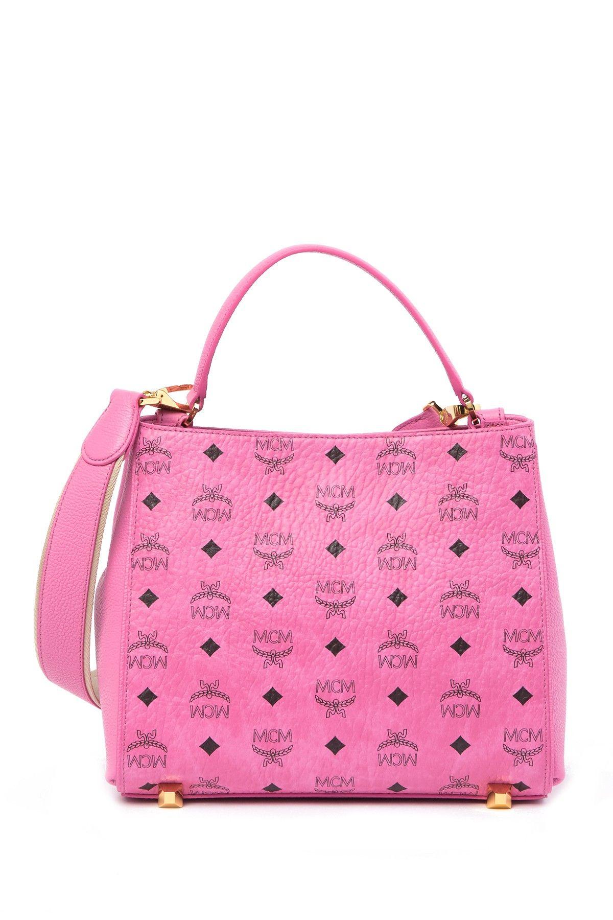mcm brand logo shoulder bag