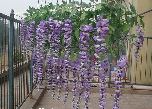 Wisteria floribce artificial flowerflower decrationsilk flower wisteria floribce artificial flowerflower decrationsilk flowerfree shippingwholesale mightylinksfo