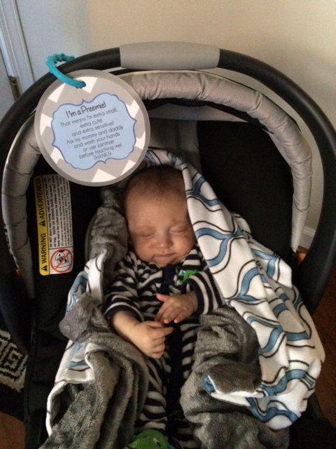Preemie Newborn Baby Car Seat Tag By TallulahMaeboutique 699