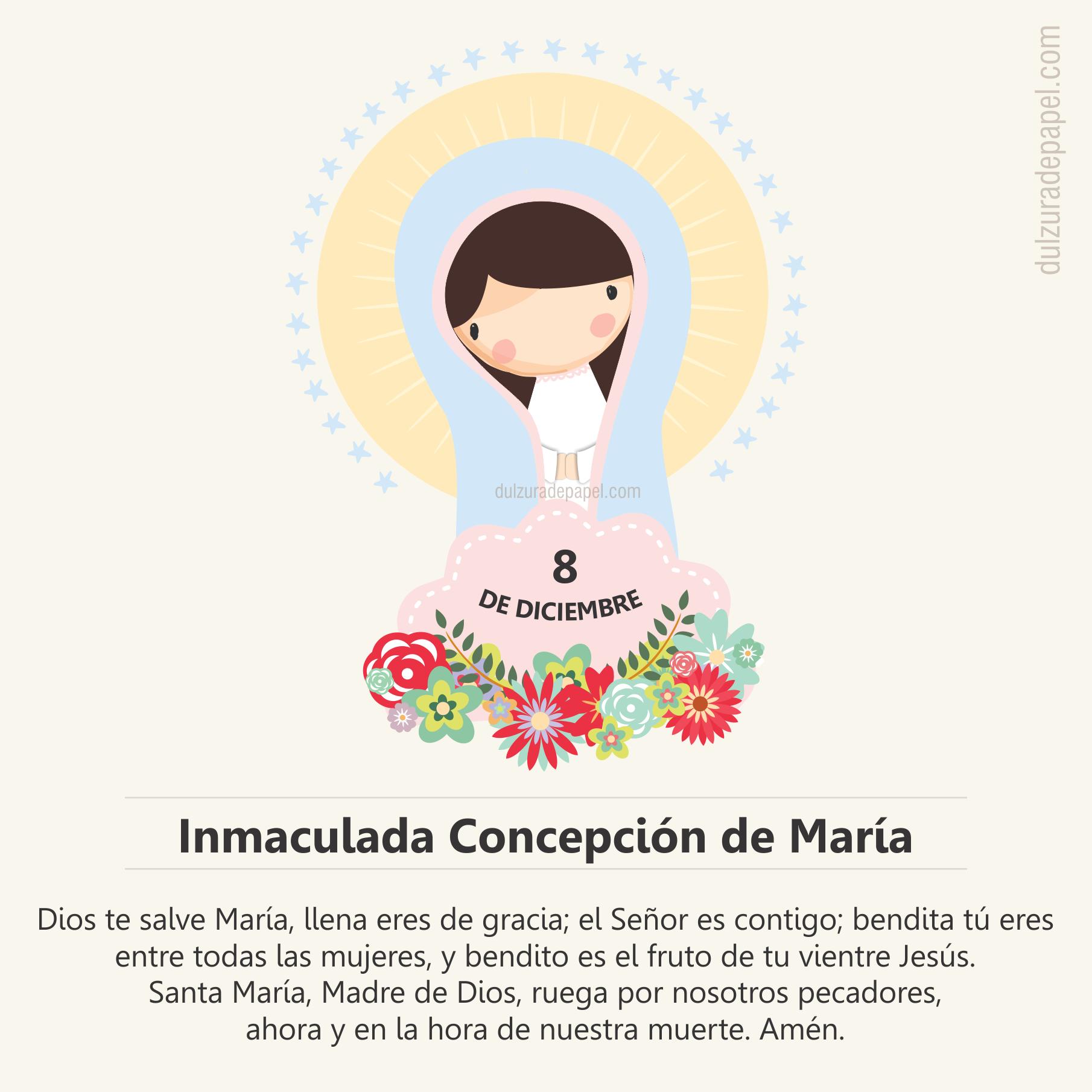 Dia De La Inmaculada Concepcion De Maria Virgen Maria Prayers Reminder Mother Mary
