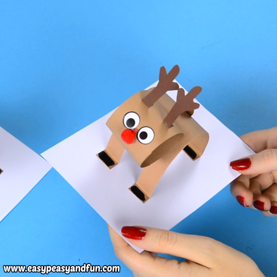 Raise your hand if you love reindeer crafts! We've got an extremely fun one for you, let's make a 3D construction paper reindeer craft together!