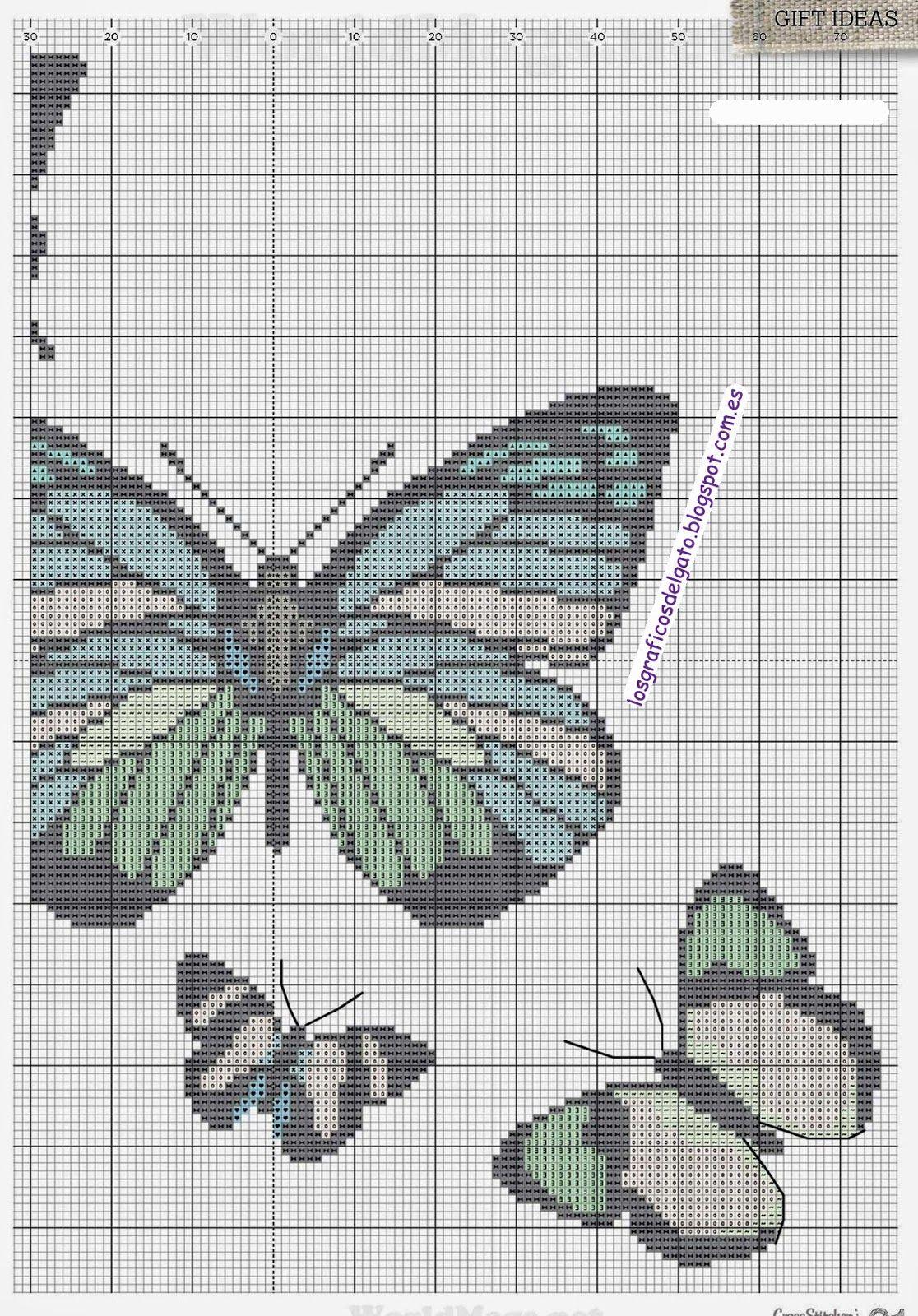 Preciosos gráficos de mariposas para decorar... | mariposas ...