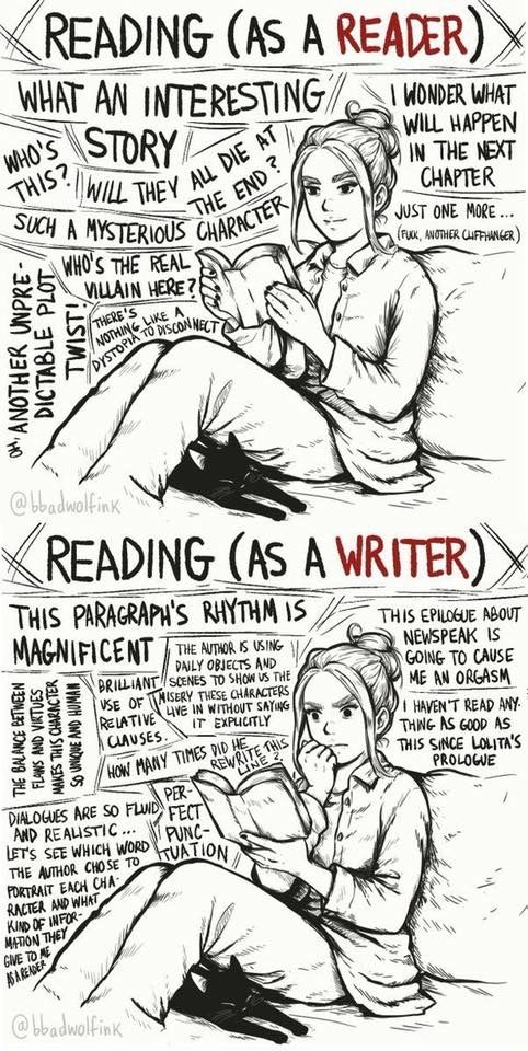 Reading as a reader, reading as a writer   A Literate Lifestyle