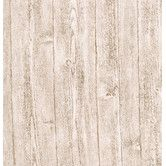 Found it at Wayfair - Textures, Techniques and Finishes Wood Panel Stripe Wallpaper in Off-White