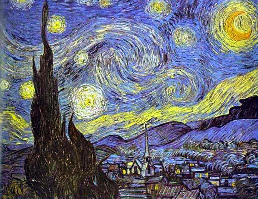 ليلة مرصعة بالنجوم للفنان الهولندي فنسنت فان جوخ The Starry Night Saint Remy June 18 Starry Night Van Gogh Van Gogh Paintings Vincent Van Gogh Paintings