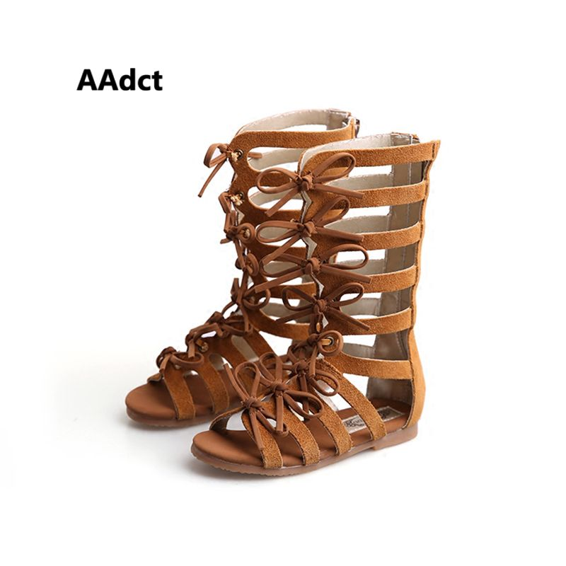 3c6587621636 2016 summer boots High-top fashion Roman girls sandals kids gladiator  sandals toddler baby sandals girls high quality shoes