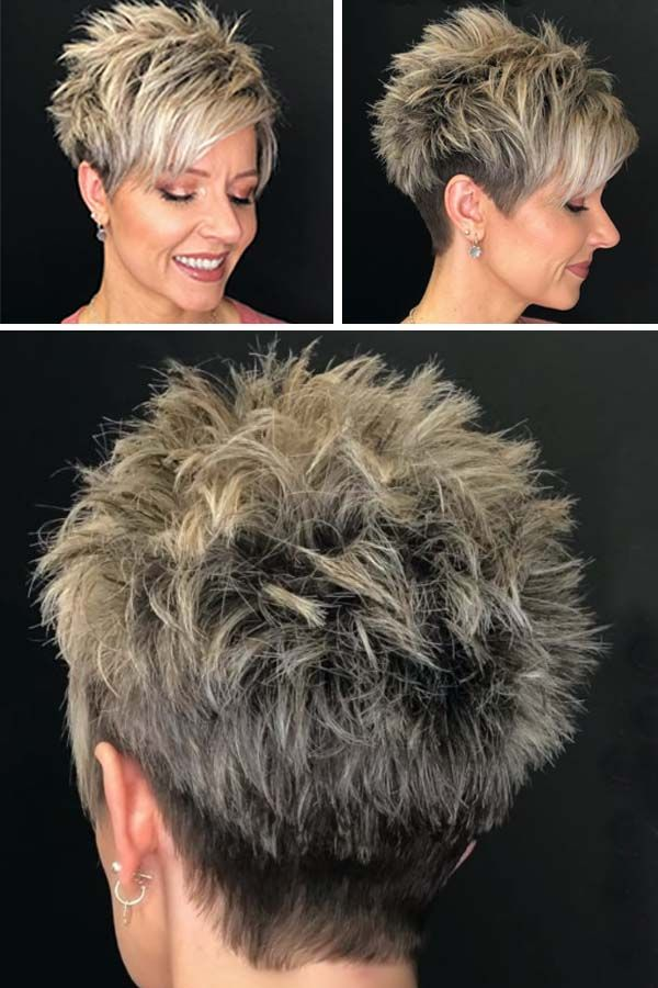 Pretty Short Spiky Hairstyles for Women