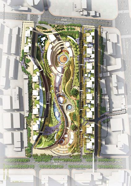Huainan City Park By The Jerde Partnership
