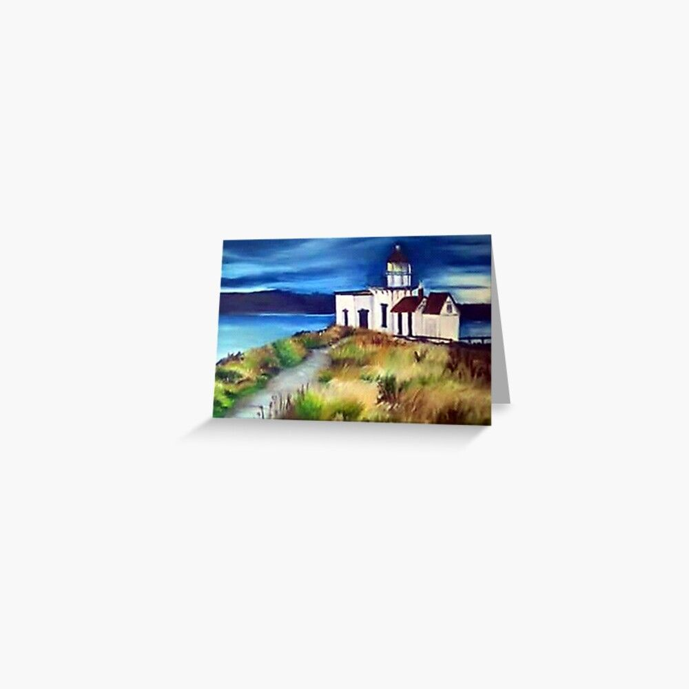 Lighthouse on hill, fine art print inspired by nature Greeting Card by Adri Barnard