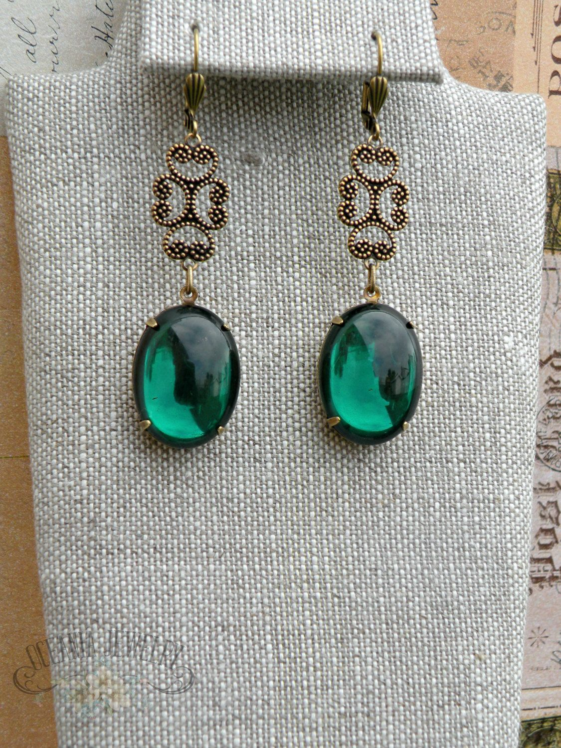 c53b74df1 Holiday Party Jewelry, Downton Abbey Earrings, Green Bridal Jewelry,  Emerald Chandelier Earrings, Vintage Bridal Earrings, Art Deco Earring by  ...
