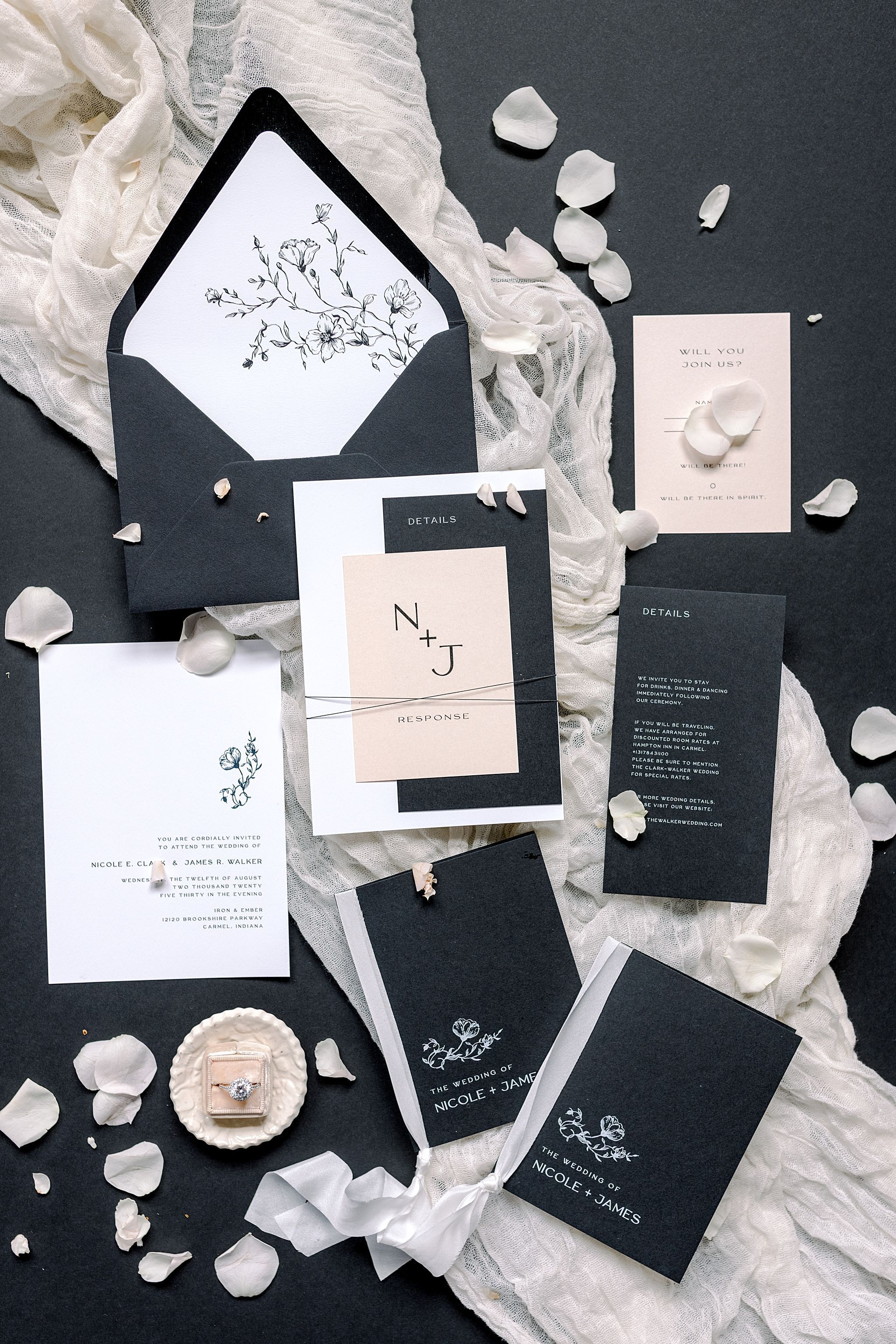 Pink And Black Wedding Invitation Ideas In 2020 Wedding Invitations With Pictures Black Wedding Invitations Modern Wedding Invitations
