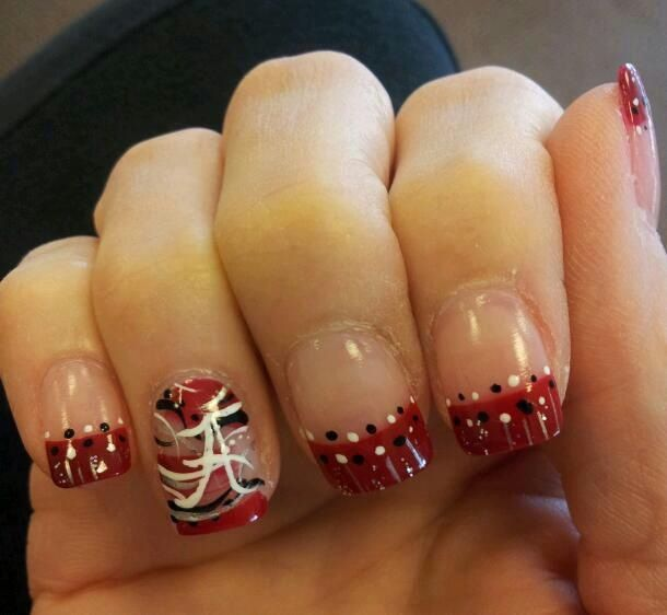 Nail Model in Gardendale, Alabama Alabama Football Nails, Alabama Nail Art,  Finger Nail - Nail Model In Gardendale, Alabama Crimson Tide Nail Designs In