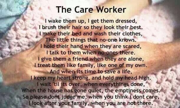 The Care Worker Aide Quotes Care Worker Nurse Inspiration
