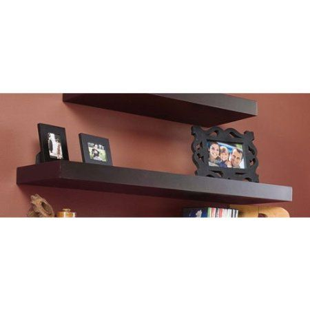 Amazon Com Southern Enterprises Chicago Floating Shelf 24 Inch Espresso Furniture Decor Floating Shelves Shelves