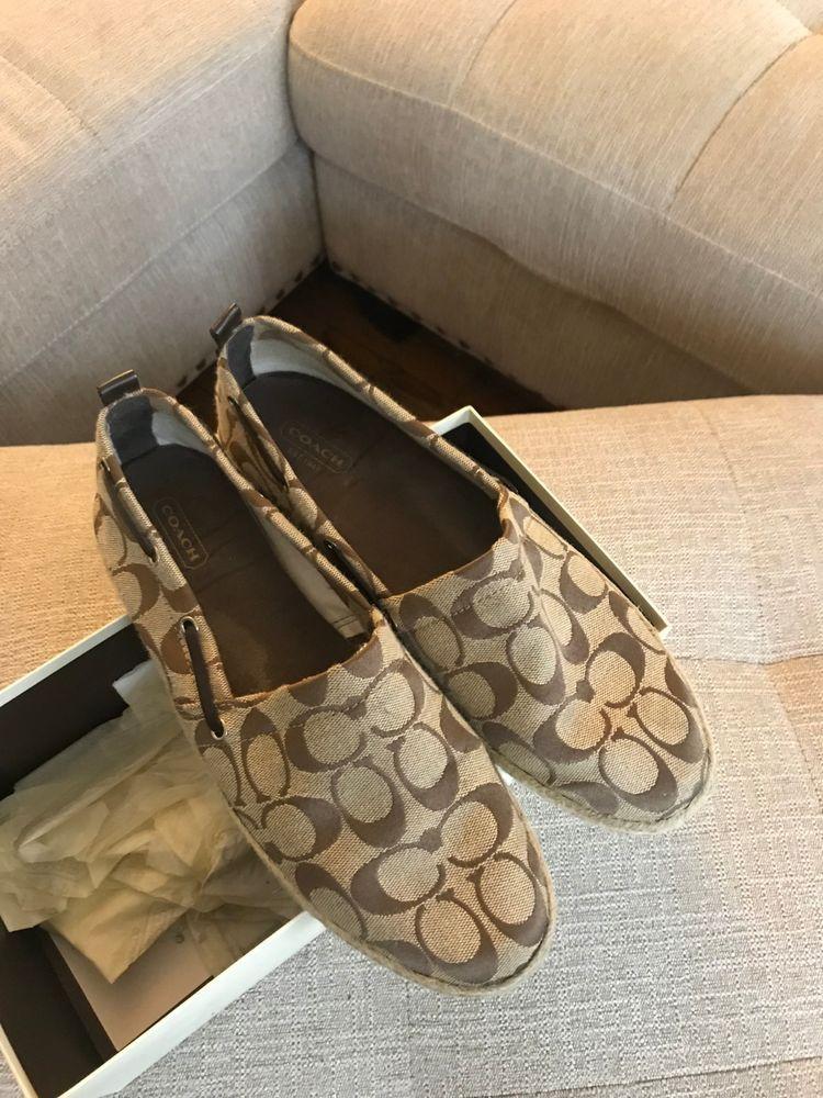 7f919b7c25e4 Coach Espadrilles in Khaki Natural 9  fashion  clothing  shoes  accessories   womensshoes  sandals (ebay link)