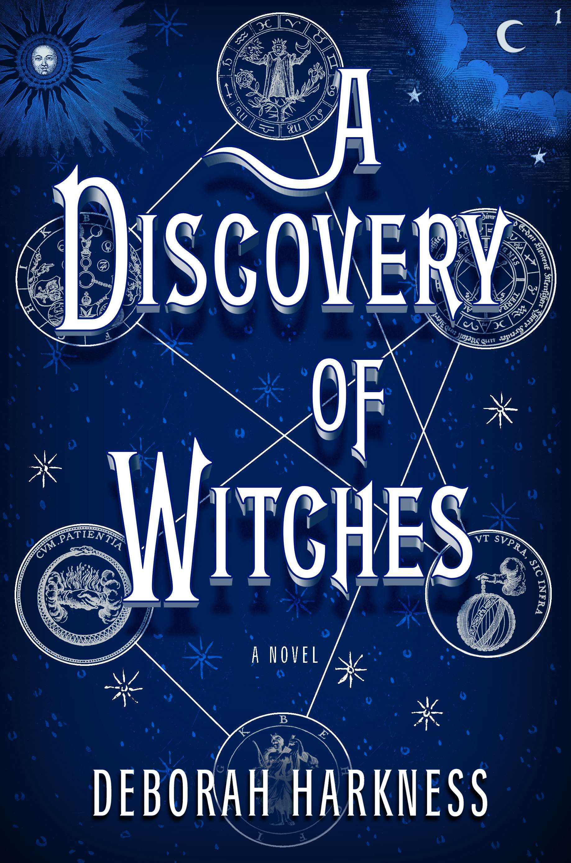 A richly inventive novel, A DISCOVERY OF WITCHES by Deborah Harkness is a centuries-old vampire, a spellbound witch, and the mysterious manuscript that draws them together.