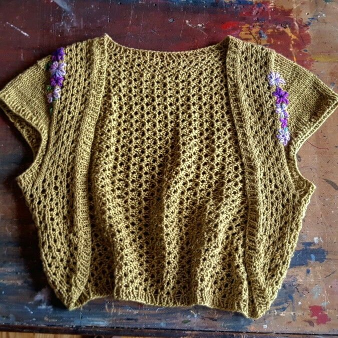 Thunder Road Bolero knitting pattern by Amy Appel knitted by Holly ...