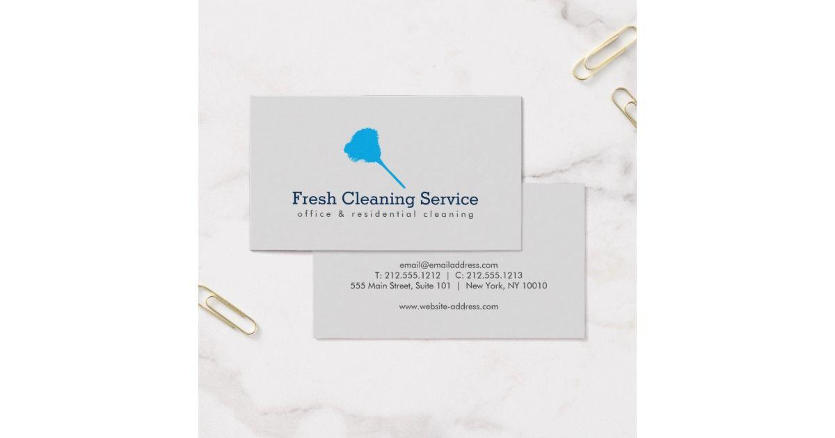 Cleaning Service, Housekeeper II Business Card | Housekeeper ...
