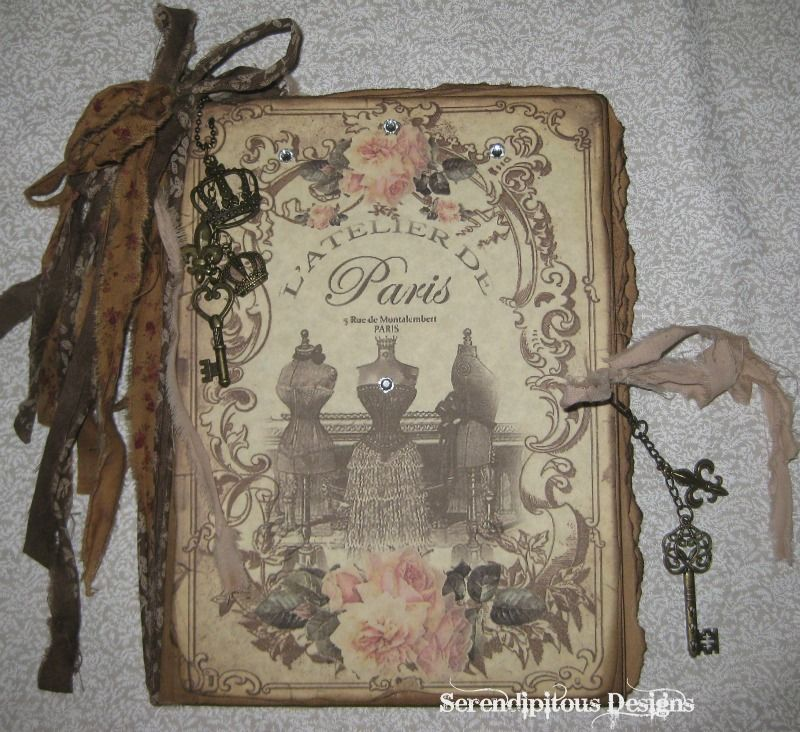 Altered Book Cover Tutorial : Art journal inspiration paris altered co… collages