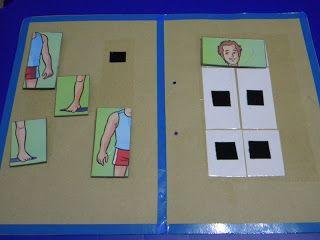 Material Teacch Y Otras Ideas Atendiendo Necesidades Actividades Para Niños Autistas Material Didactico Para Niños Niños Autistas