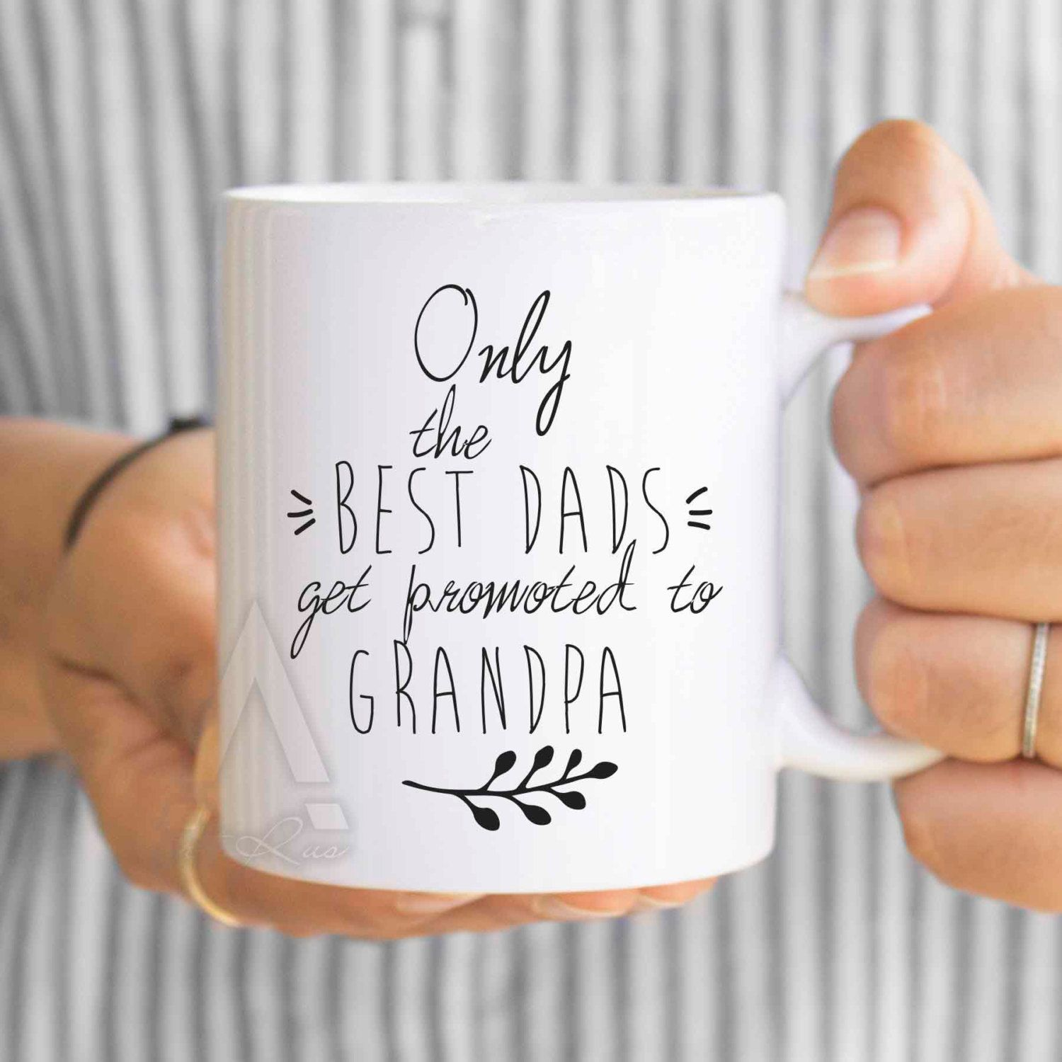 Pregnancy Announcement Grandparents Grandpa Mug Only The Best Dads Get Promoted To New Be MU127 By ArtRuss On