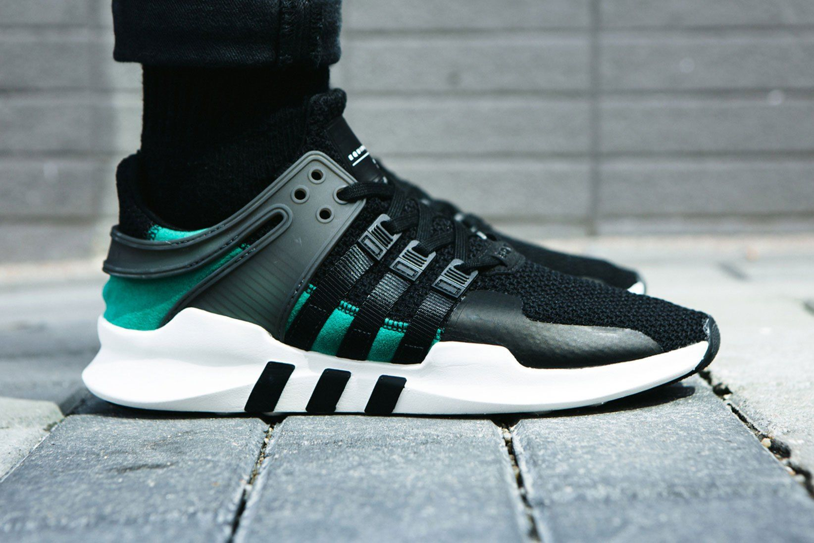 Adidas Equipment Support ADV - Core Black/Sub Green (by worldbox) | shoes |  Pinterest | Adidas, Adidas shoes and Logo adidas