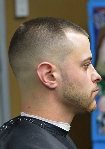 Buzz Cut Fade And Stubble