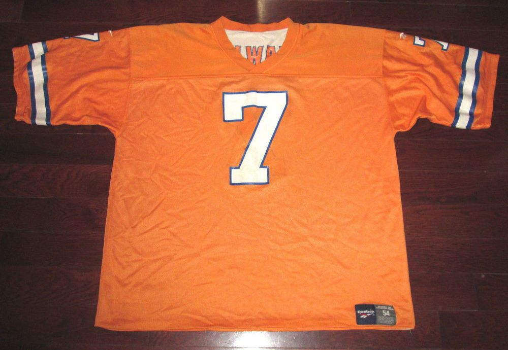 buy popular 47a59 8aaef JOHN ELWAY Vtg 90's REVERSIBLE orange Crush DENVER BRONCOS ...