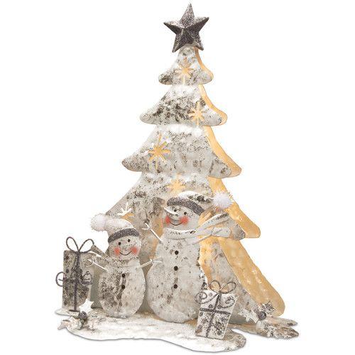 Found it at Wayfair - Lighted Tree Snowman Scene