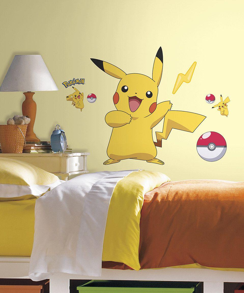Another great find on #zulily! Pokémon Pikachu Peel & Stick Wall ...